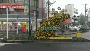 蘇我駅前のオブジェです。素敵!