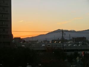 なかなかに美しかった、大和の夕焼け。