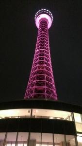 マリンタワーもピンクに!