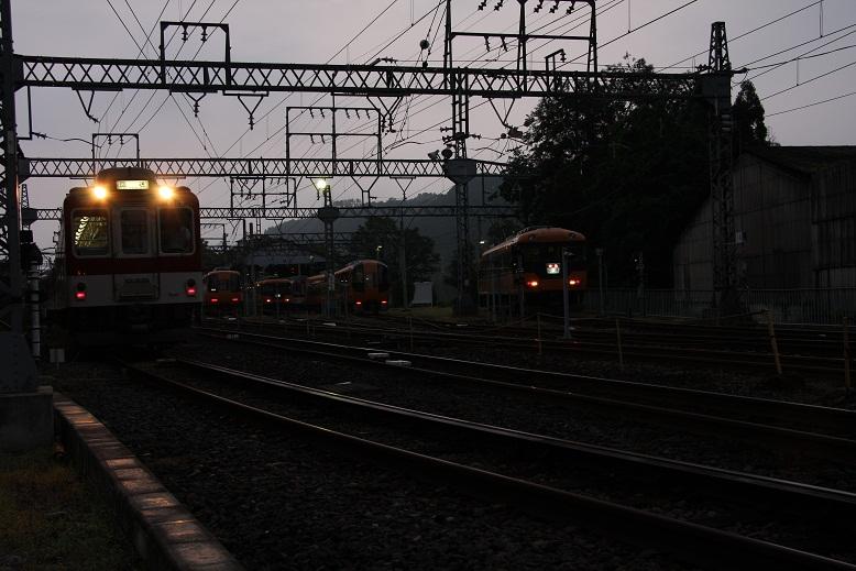 近鉄吉野線、六田車庫、1
