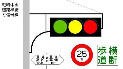 1940年代の道路標識を再現