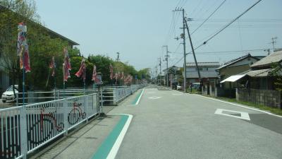 改善された南国市立長岡小学校の通学路