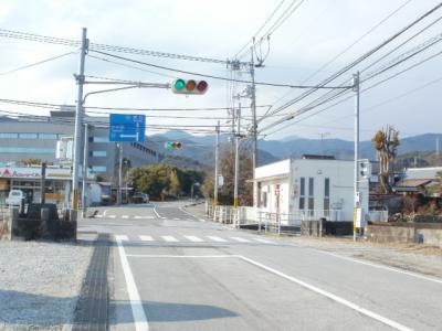 お正月のガラガラ道路