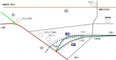 香南のいちインターチェンジの地図