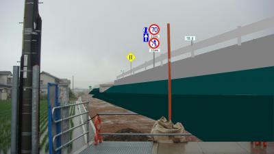 香南のいちインターチェンジ完成予想図(北側から見た所)