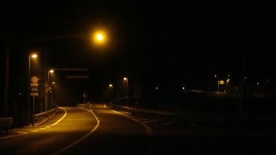 香南やすインターチェンジ安芸側出入口の夜景