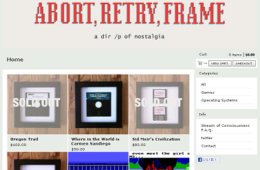 Abort, Retry, Frame ― Home