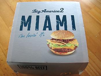 第3弾の MIAMI Burger