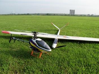 T-REX450PROとグライダー