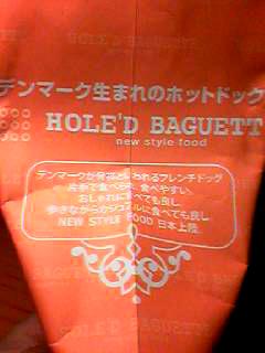 HOLED BAGUETT袋
