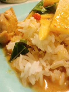 ラチャ2カレー米