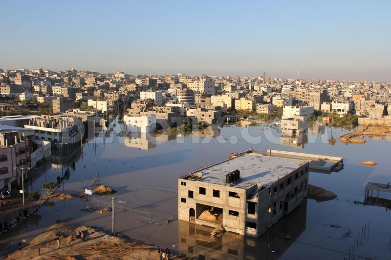 3516332Gaza strip flooded after torrential rains from Storm Alexa