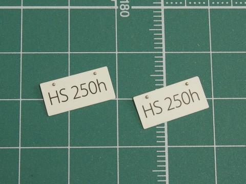 HS250h_ナンバープレート