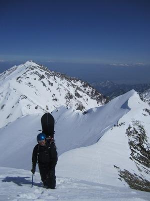 針ノ木岳稜線をハイク。