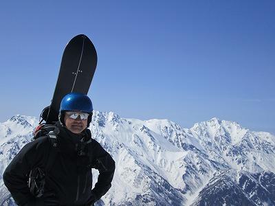 針ノ木岳へ登頂。