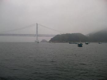 鳴門海峡大橋の手前