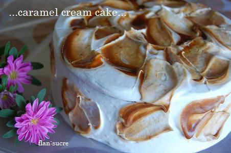 caramel cream cake ホール