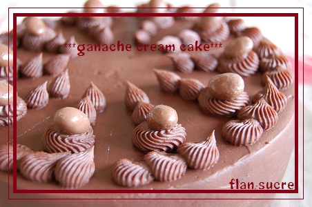 ganache cream cake