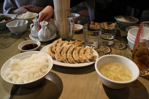 餃子定食110123