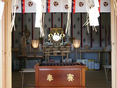 仮拝殿内 神鏡