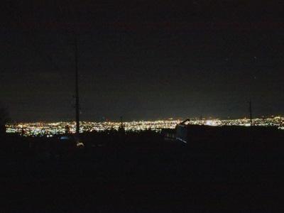 夜中の前橋市
