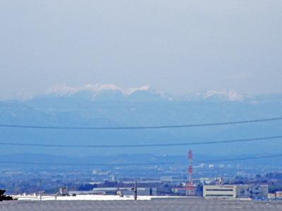 八ヶ岳見えた