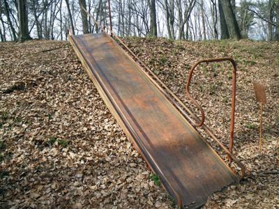 昔の滑り台