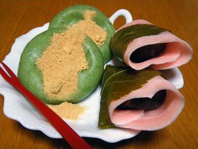 大島さんちの草餅と桜餅