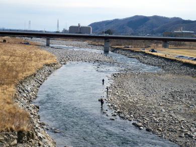 錦桜橋下流から中通大橋