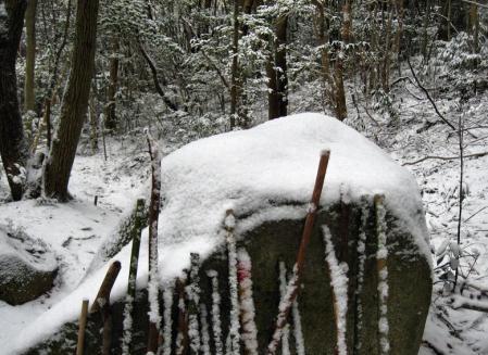 小岱山の雪 196