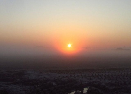 朝日が昇る 010
