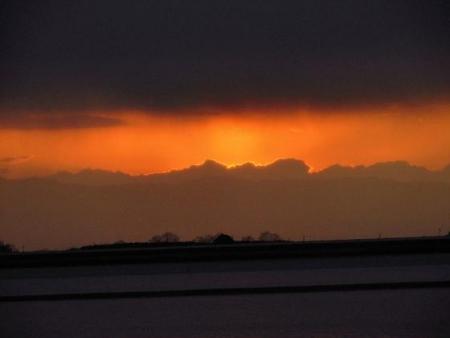 ロウバイと多良の夕陽 056