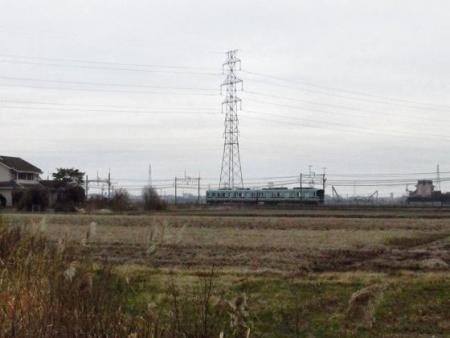電車と鳥 001