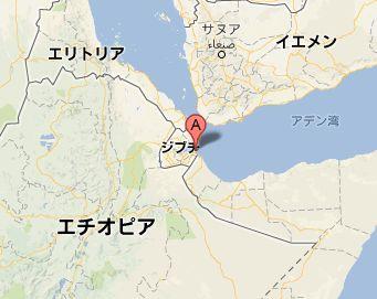 地図:ジブチ