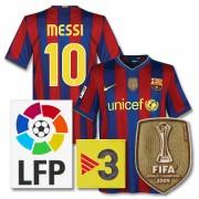 バルセロナ09-10ホームユニフォーム2009CWCチャンピオンパッチつき
