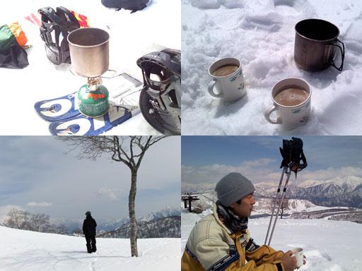 山頂でコーヒー
