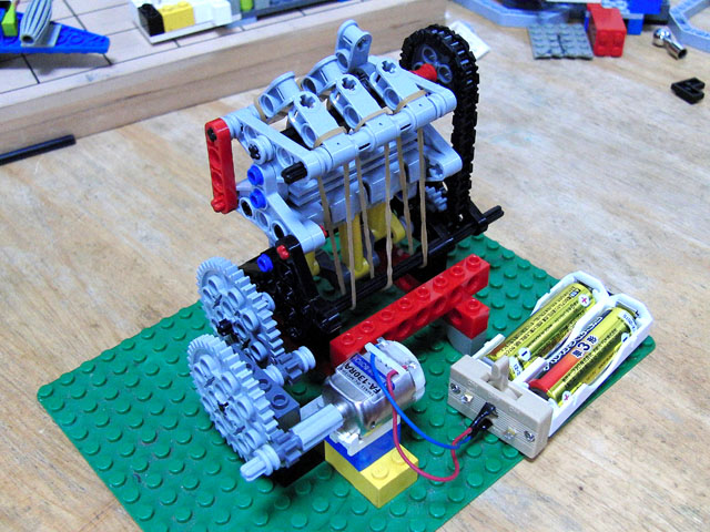 レゴでSOHCエンジン