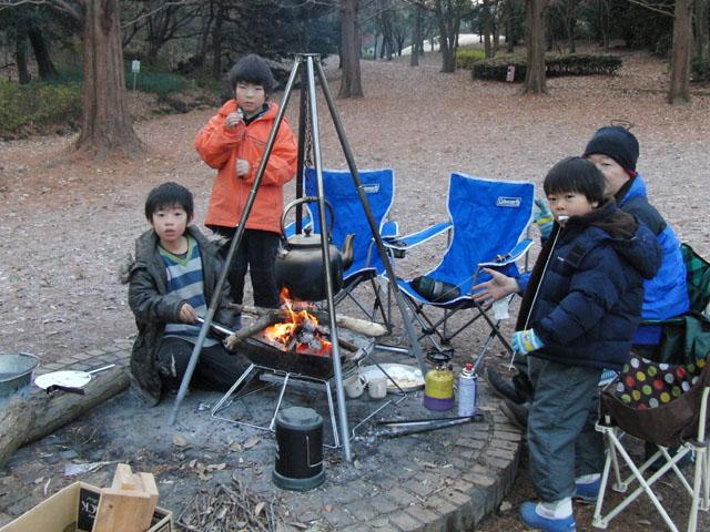 極寒キャンプ