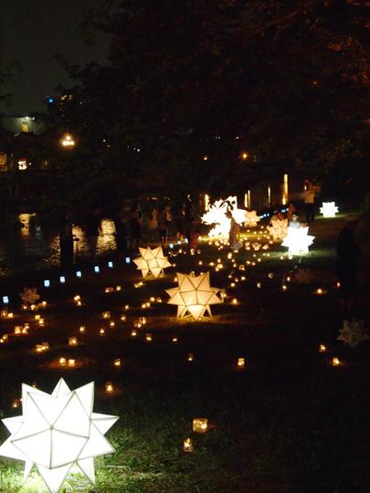 金沢燈涼会の浅野川ライトアップ