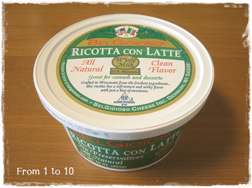 コストコ リコッタチーズ①
