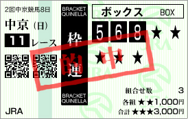 的中_大阪杯枠連BOX