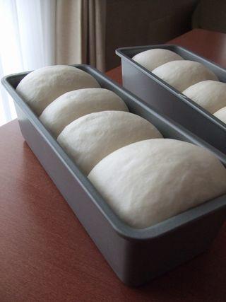 牛乳食パン焼成前