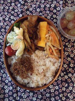 豚肉とレンコンの甘辛カレー味弁当
