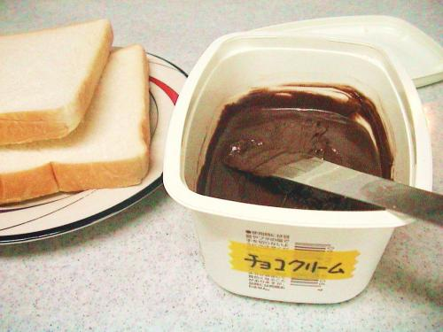 チョコクリーム ディスプレイ