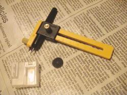替え刃と穴を開けない丸プレート