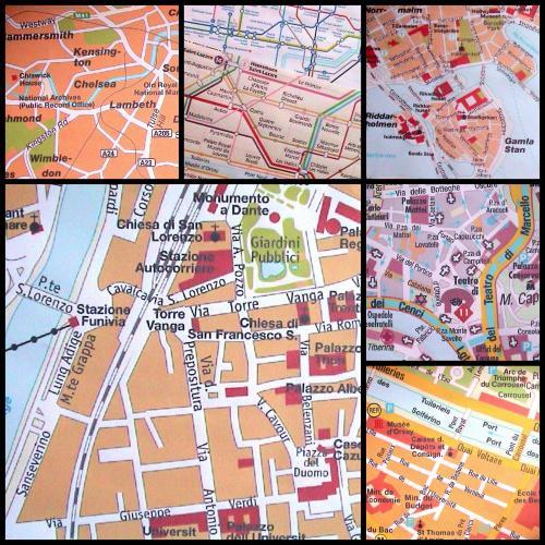 外国地図と路線図500