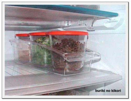 冷蔵庫にてフレーム500