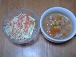 KFC風コールスローサラダ(左)