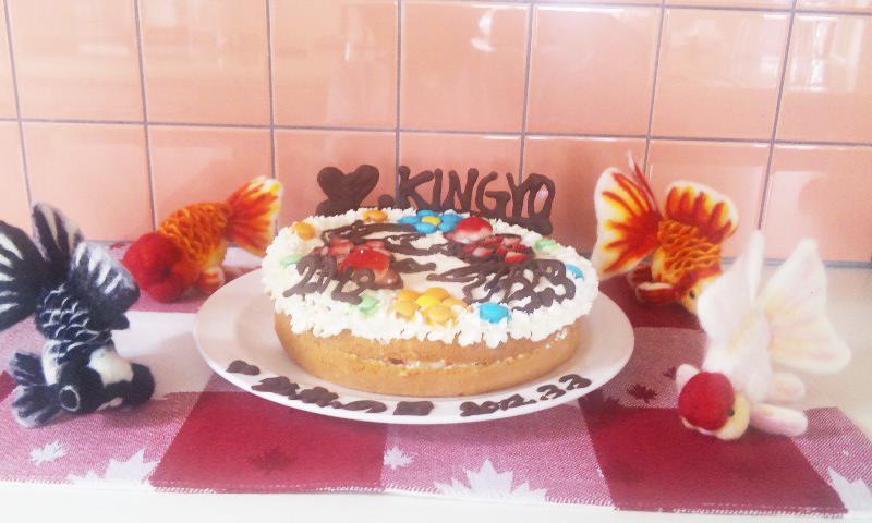 金魚ケーキ4