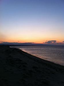 朝日のエーゲ海
